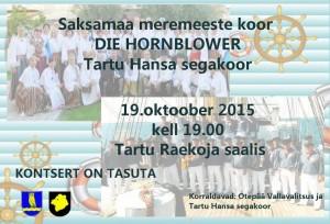 Kontsert Saksa meremeeste kooriga 19.10.2015